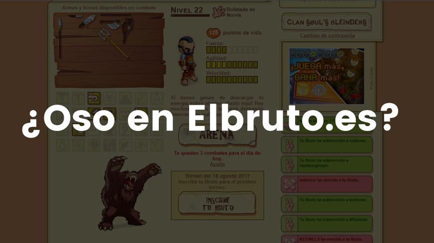 Conseguir Oso en Elbruto.es